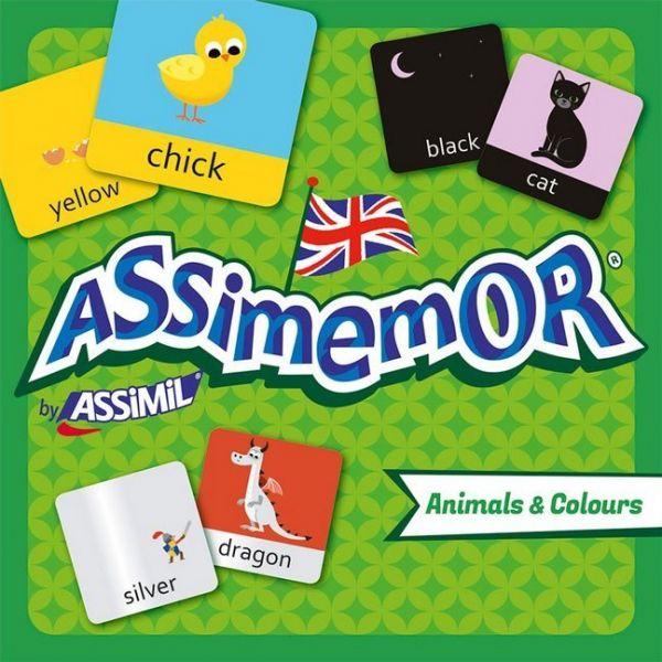 Image of Assimemor, Animals & Colours (Kinderspiel): Das kinderleichte Englisch-Gedächtnisspiel