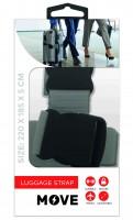 Move Cross Luggage Strap, Gray