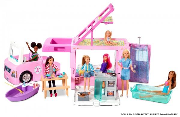 Image of Barbie 3-in-1 Super Abenteuer-Camper mit Zubehör