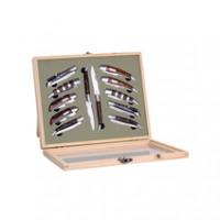 Laguiole Geschenkset bestehend aus 12 faltbaren Messer in einem Display