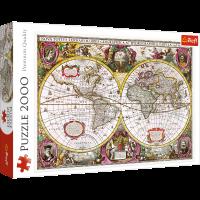 Trefl Puzzle Karte der Erde 2000 Teile