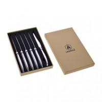 Laguiole Set Steakmesser aus Metall, 6 Stück