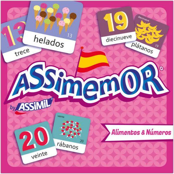 Image of Assimemor, Alimentos & Números - Speisen & Zahlen (Kinderspiel): Das kinderleichte Spanisch-Gedächtn