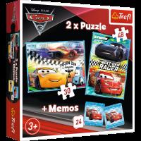 Trefl Puzzle+Spiel Cars 3 2x Puzzle + Memos