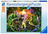 Ravensburger Wolfsfamilie im Sonnenschein