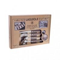 Laguiole Besteckkastenset 24-teilig aus Walnussholz