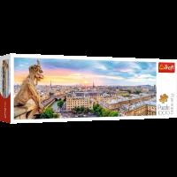 Trefl Puzzle Blick von der Kathedrale Notre-Dame de Paris Puzzle panorama (1000)