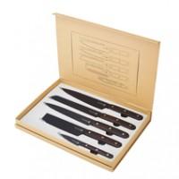 Laguiole Küchenmesser Set 5-teilig, schwarz