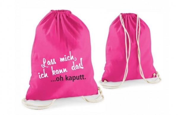 """Image of Statement-Turnbeutel Lass mich, ich kann das! ?oh kaputt."""" pink"""""""""""