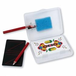 Image of AGM Jass Box mit Spitzer, Schwamm, Kreidestifte, Spiel