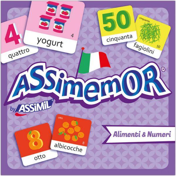 Image of Assimemor, Alimenti & Numeri - Speisen & Zahlen (Kinderspiel): Das kinderleichte Italienisch-Gedächt
