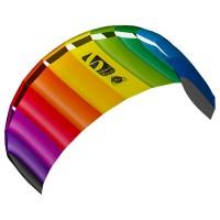 HQ INVENTO Drachen Symphony 1.8 Rainbow 180x60 cm, ab 12 Jahren, Schnur 2x25 m auf Winder