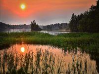 Sonnenuntergang in Seelandschaft - 500 Teile (Puzzle)