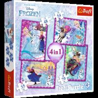 Trefl Puzzle Winterwahnsinn/ Disney Frozen 4 in 1 (35, 48, 54, 70)