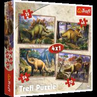 Trefl Puzzle Die Dinosaurier 4 in 1 (35, 48, 54, 70)