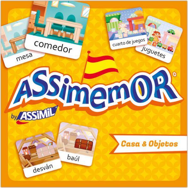 Image of Assimemor, Casa & Objetos - Haus & Objekte (Kinderspiel): Das kinderleichte Spanisch-Gedächtnisspiel
