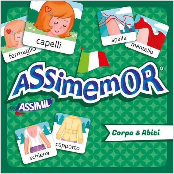 Image of Assimemor, Corpo & Abiti - Körper & Kleidung (Kinderspiel): Das kinderleichte Italienisch-Gedächtnis