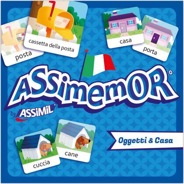 Image of Assimemor, Oggetti & Casa - Objekte & Haus (Kinderspiel): Das kinderleichte Italienisch-Gedächtnissp