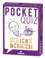 Pocket Quiz Querdenken (Spiel): 50 Knobeleien für alle, die gegen den Strom denken!