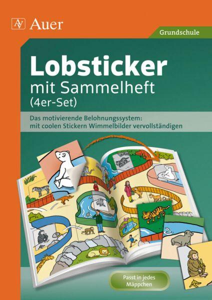 Image of Lobsticker mit Sammelheft (4er-Set): Das motivierende Belohnungssystem: mit coolen Stickern Wimmelbi