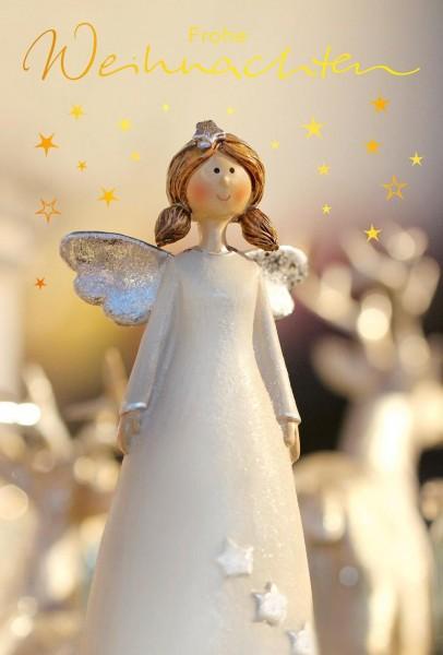 Image of ABC Weihnachtskarte mit Engel