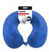 Move Memory Foam Travel Pillow Blue