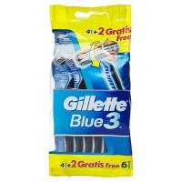 Gillette Blue3 Einwegrasierer 4+2 Gratis