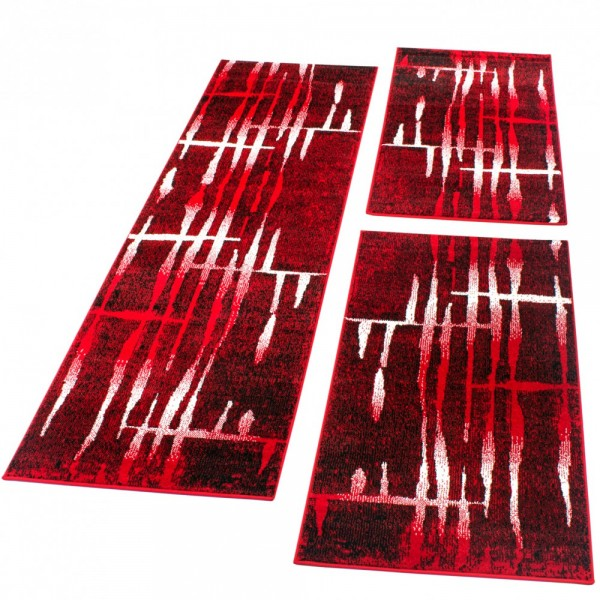 Läuferset Retro Muster Rot