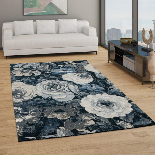 Vloerkleed woonkamer boho design bloemenpatroon