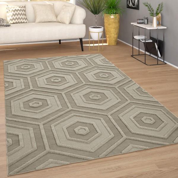 Teppich Wohnzimmer Boho Ethno Muster Geometrisch