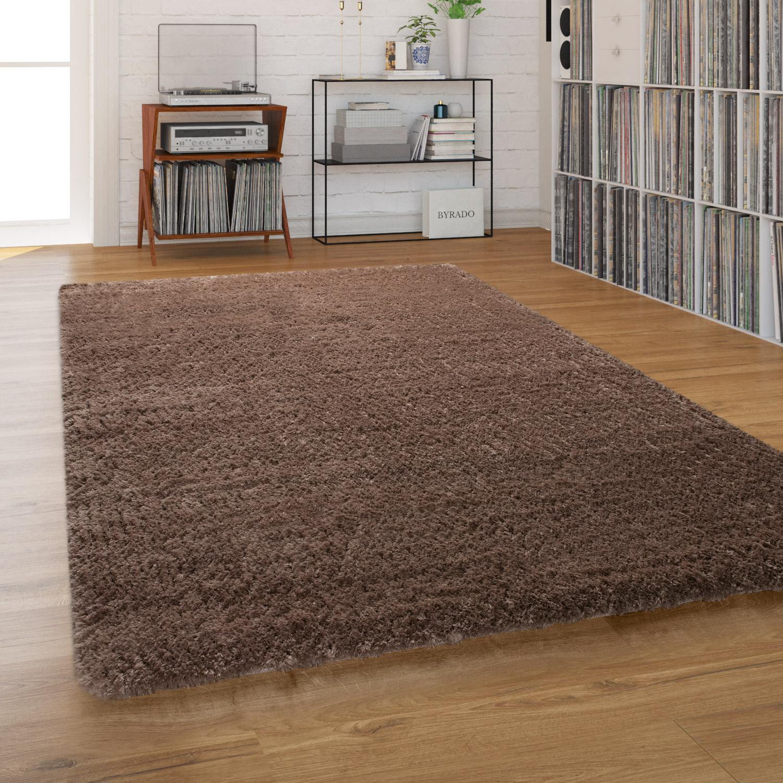Shaggy Living Room Rug Washable Shaggy Flokati look monochrome in Beige