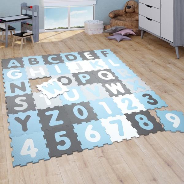 Tapis Puzzle Tapis Bébé Chiffres Lettres