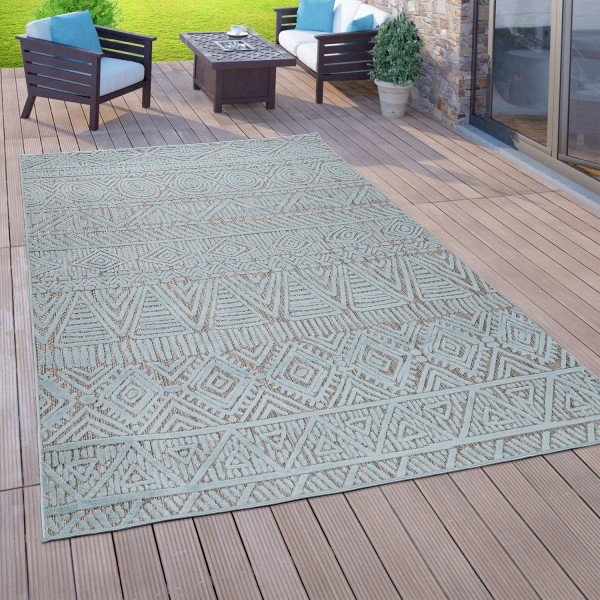 Vloerkleed voor binnen en buiten 3D-ontwerp balkon terras