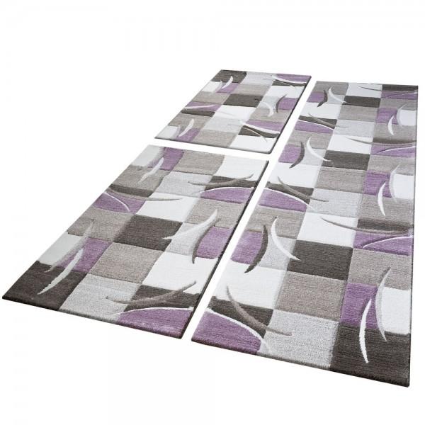 Runner Set Checked Pattern Purple
