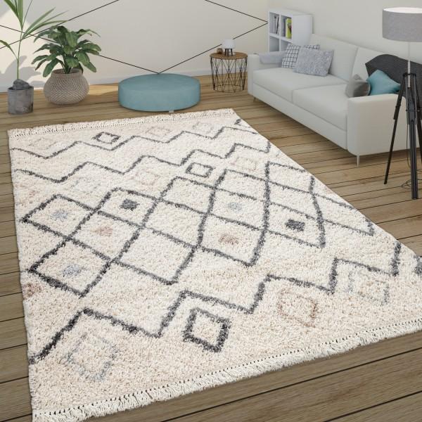 Deep-Pile Rug Living Room Scandi Look
