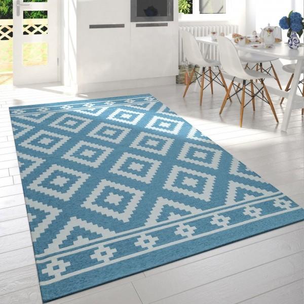 Braun Beige Teppich Modern Rauten Design Skandinavisch Scandi Muster Geomet