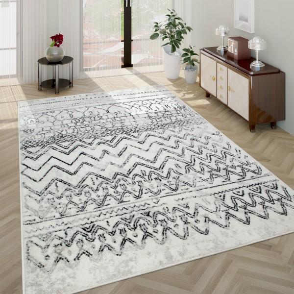 Teppich Wohnzimmer Vintage Design Skandi Muster