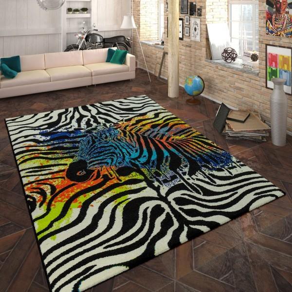 Designer Teppich Animal Zebra Design Multicolor