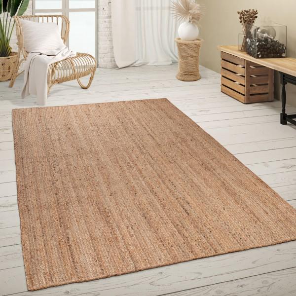 Teppich Wohnzimmer Handgewebt Einfarbig Meliert