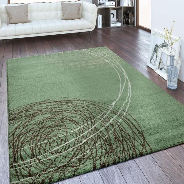 Designer Teppich Abstraktes Design Grün