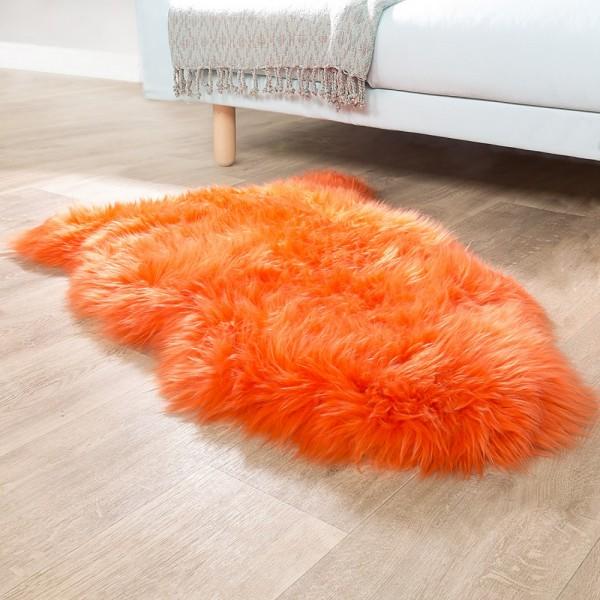 Australisches Lammfell Naturfell Bettvorleger Echtes Schaffell In Orange
