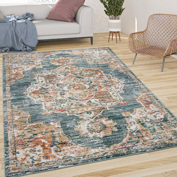 Teppich Esszimmer Pastell Orientalisches Muster