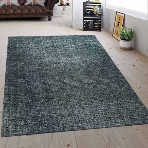 Flachgewebe Teppich Vintage Grau