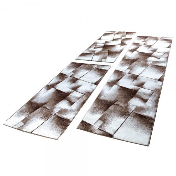 Designer Carpet In Grey Cream Black