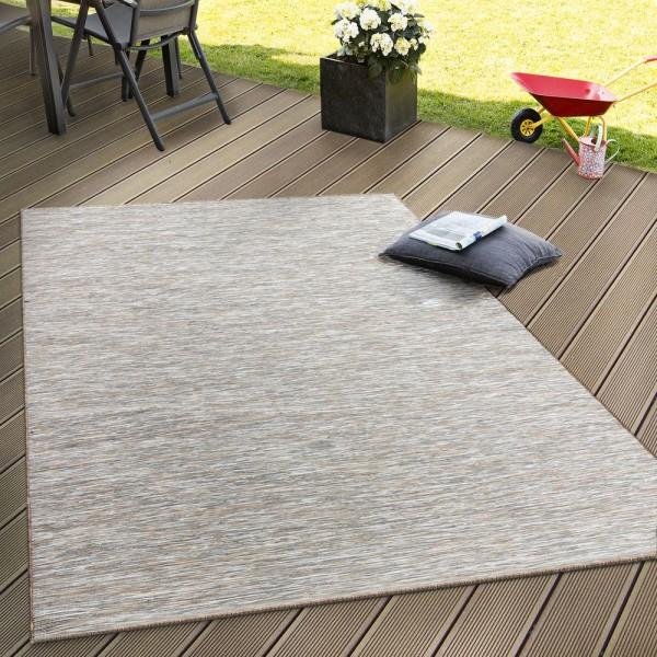 In- & Outdoor Flachgewebe Teppich Terrassen Teppiche Mit Farbverlauf In Beige