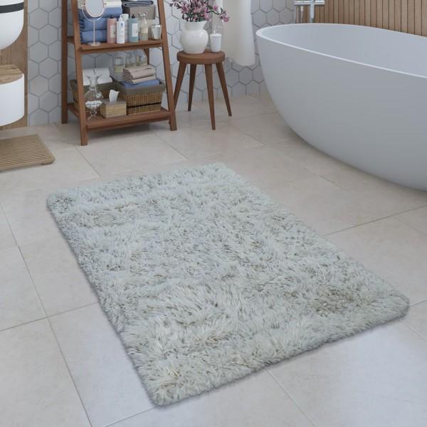 Moderne Badematte Badezimmer Teppich Shaggy Kuschelig Weich Einfarbig Creme