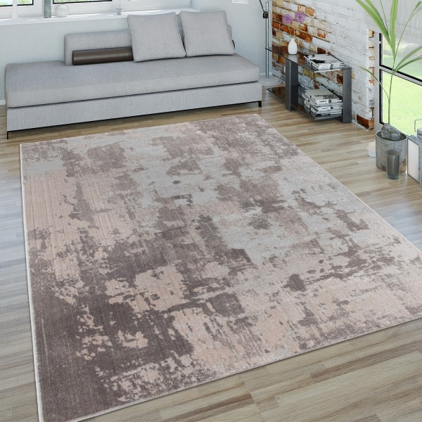 Short Pile Large Rug 3D Effect Abstract