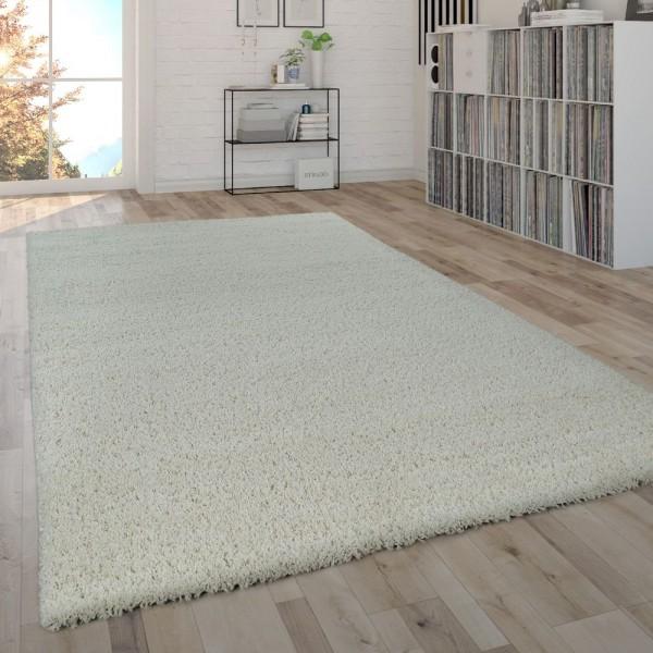 Hochflor-Teppich Im Shaggy-Style, Moderner Wohnzimmer-Teppich In Creme