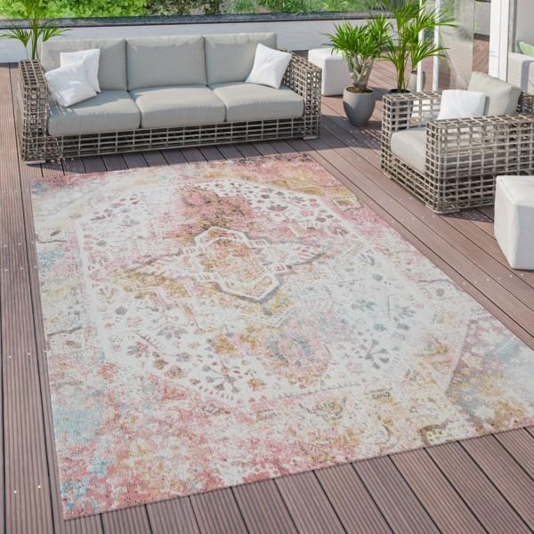 vloerkleed buiten terras balkon met Oosters patroon