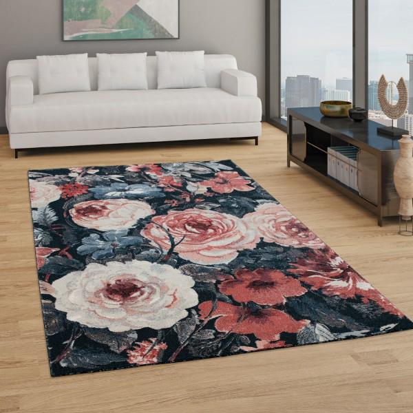 Alfombra Salón Diseño Bohemio Estampado Floral